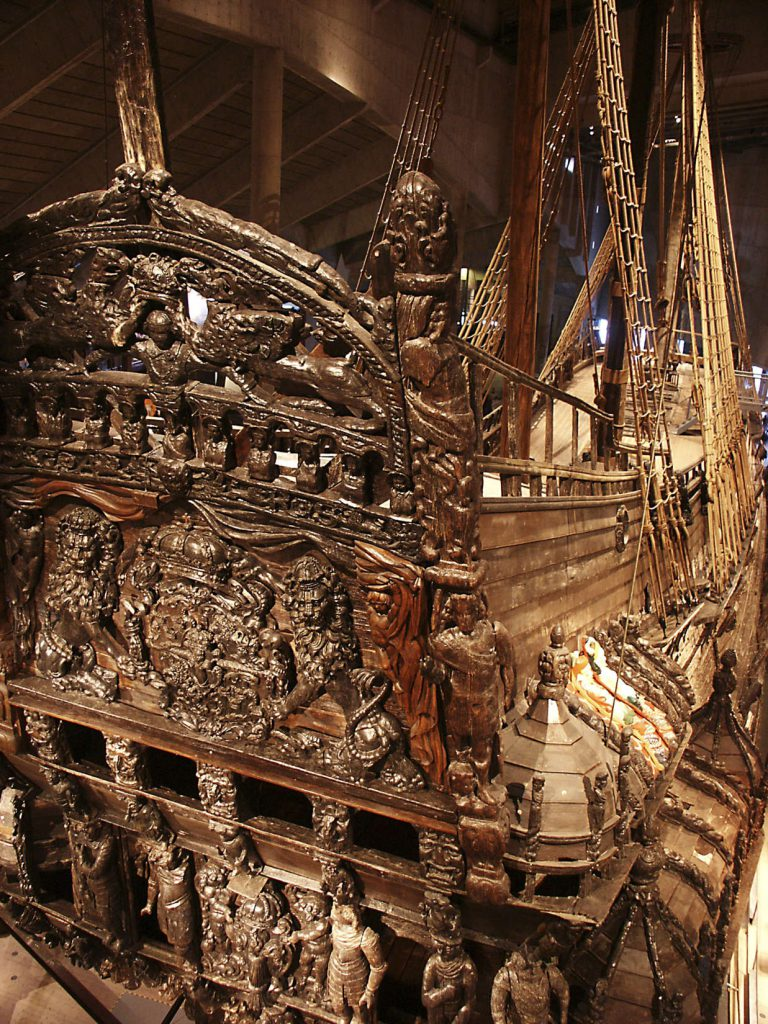 Link to Vasa museum, sculptures
